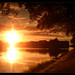 Sonnenuntergang mit Sonnenbrille