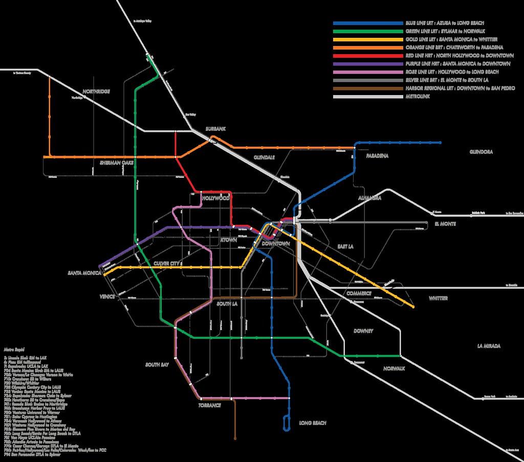 La Metro Mapping Revision Including Metro Metro Rapid Flickr