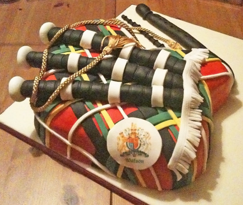 Bagpipe Birthday Cake Claire Wolterink Flickr
