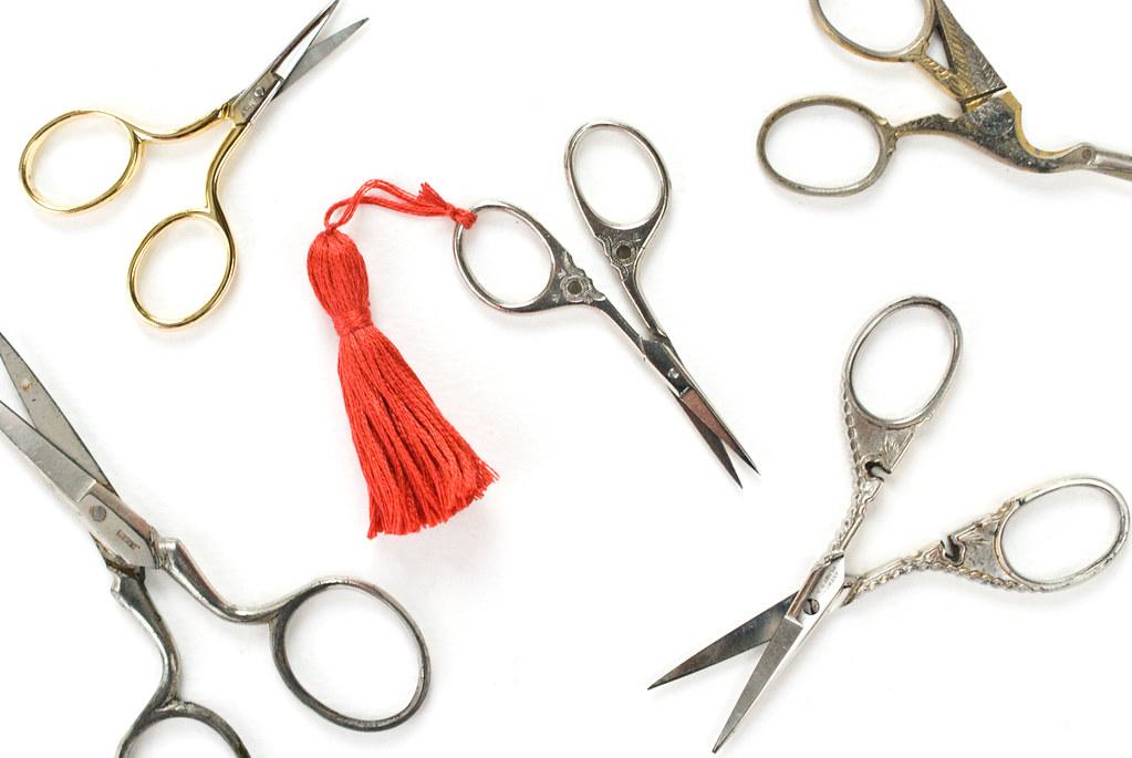 Tassel Scissor Charm
