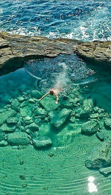 Beautiful Clear Rock Pool Water Wallpaper Man Flickr
