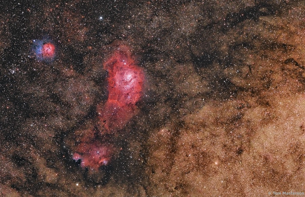 The Nebulae of Sagittarius and Clouds of the Milky Way