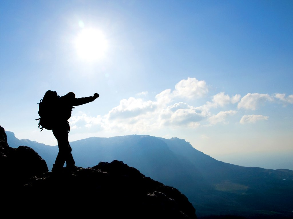 hiking silhouette desktop wallpaper - photo #3