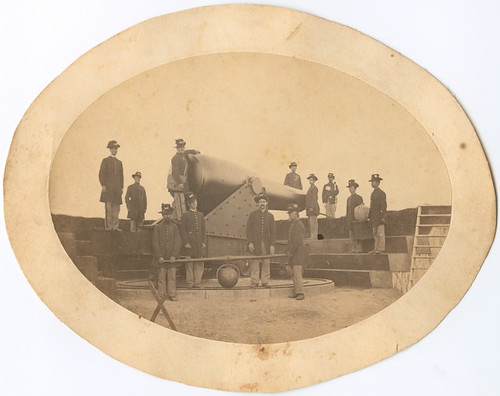 Large cannon at Battery Rogers [sic], Alexanderia [sic], Va. | by SMU Central University Libraries