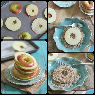 baked almond apple crisp rings collage 2 | by Runningtothekitchen