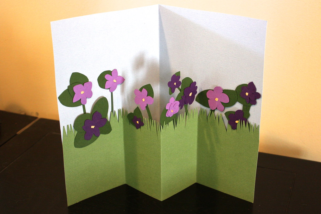 flower garden pop up card by kathleenneumark