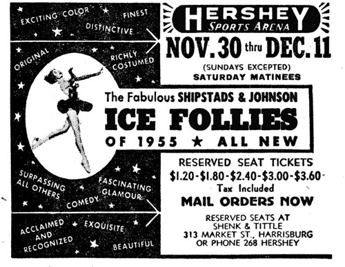 """Surpassing all others....."" - ICE FOLLIES OF 1955 - HERSHEY Sports Arena, Hershey, PA. USA 