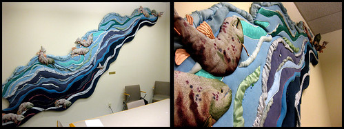 "Lynn Di Nino's ""Salmon Swimming Upstream"" 