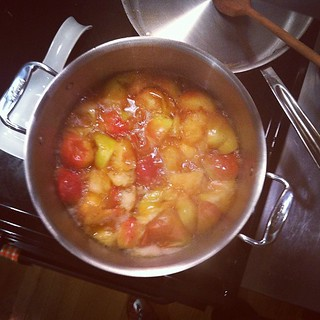 Making apple butter w some tricks up its sleeve. Hoping to bring some to @goodappetite tomorrow. | by sassyradish