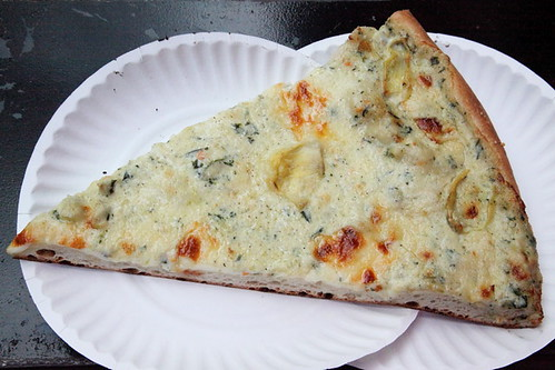 Artichoke slice, Artichoke Basille's Pizza, MacDougal Street, Manhattan | by Eating In Translation