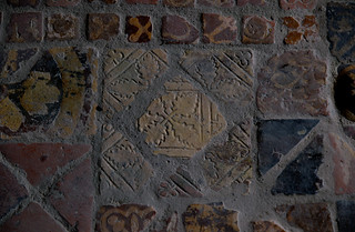 Buildwas, Shropshire, abbey ruins, chapter house, tiles | by groenling