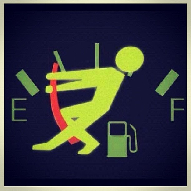 Image result for running on empty gas tank