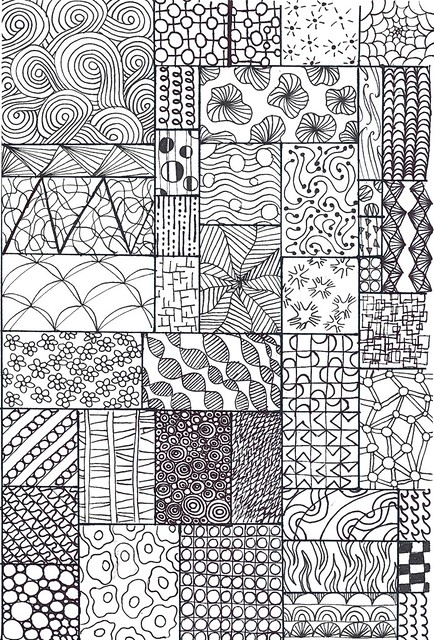 Straight Line Meaning In Art : Zentangle sampler flickr photo sharing
