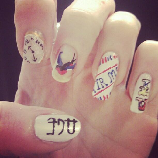 Vintage Nails: ...age #vintage #nails #nailart #time #swallow #airmail #l