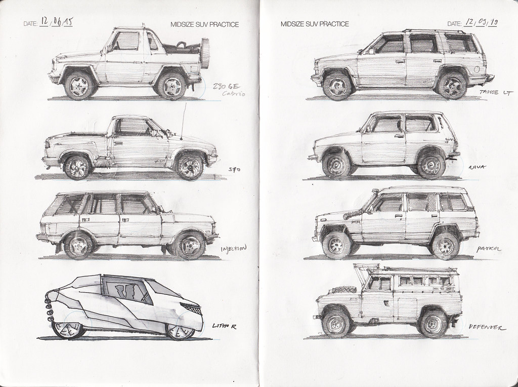 Idc Midsize Suv Practice Page 2 Pencil Drawings Around