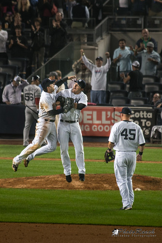 Jumping A-Rod and Brett Gardner for Yankee Clinching Champion VS Red Sock 14-2 | by Photo Rusch