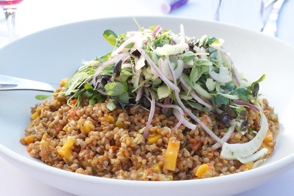 ... Salad Course | Roasted squash, heirloom farro, shaved fe… | Flickr