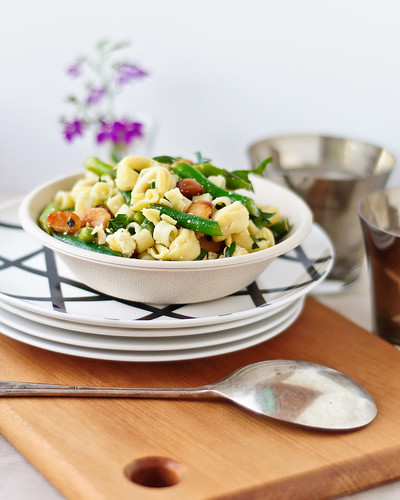Springtime Tortellini Pasta Salad with Mint, Peas & Asparagus | by she cooks she gardens