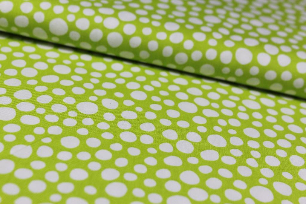 """Baumwollstoff """"Little spots"""", grün"""