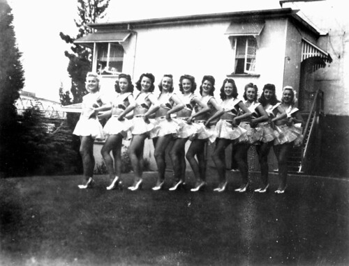 Chorus line the Soubrettes at the Cremorne Theatre, South Brisbane ca 1944 | by State Library of Queensland, Australia
