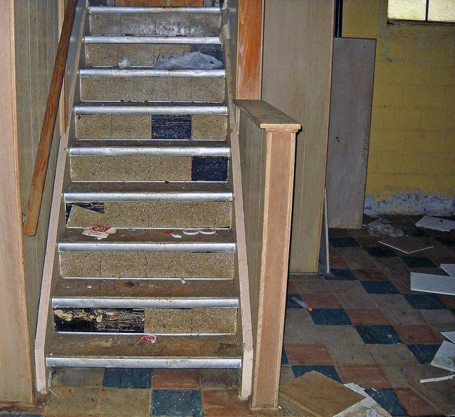 Home Basement Asbestos Floor Tile Amp Stair Risers Flickr