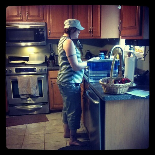 Barefoot Pregnant And In The Kitchen: Haha. Barefoot And Pregnant In The Kitchen. The Perfect Wo