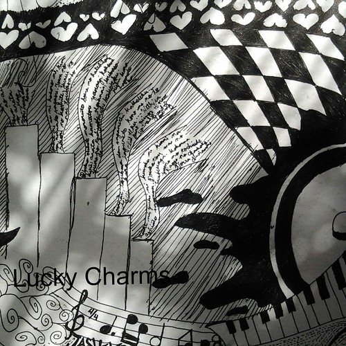 black and white art work by Lucky Charms | by greenbucks