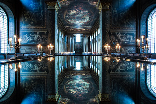 a cool reflection on the painted hall | by stocks photography.