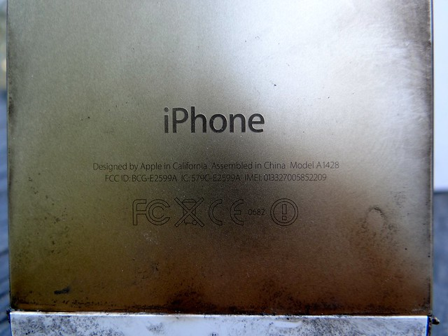 where is iphone serial number microwaved iphone 5 serial number flickr photo 18239
