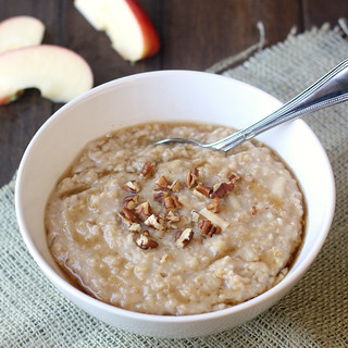 Overnight Apple-Cinnamon Steel-Cut Oatmeal | by Tracey's Culinary Adventures