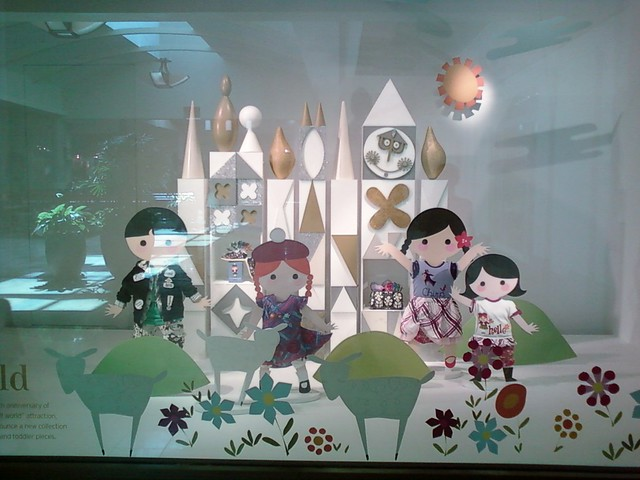 it's a small world window display - Nordstrom, Westfield Valley Fair