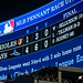 MLB Pennant Race Yankees Clinch Leaque Sign