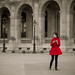 Woman in red - Paris