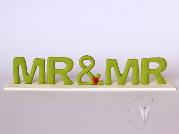 Schriftzug Fur Die Moderne Hochzeitstorte Mr Mr Tortenfiguren