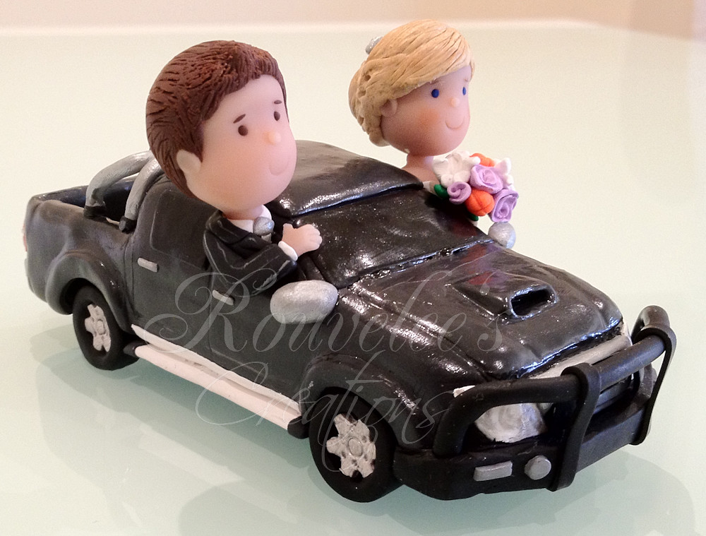 Toyota Hilux Wedding Cake Topper | A customised Bride and Gr… | Flickr