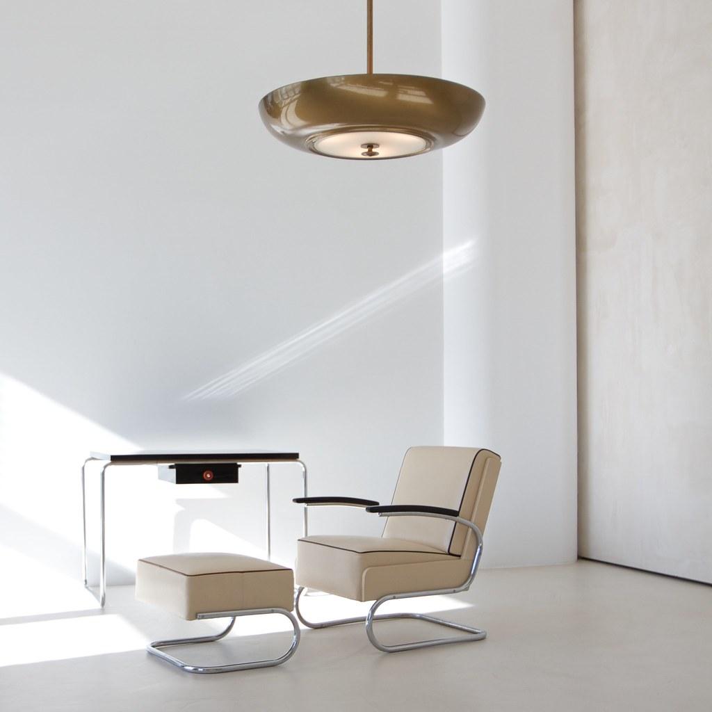 Bauhaus modernist interior design cantilever tubular - Bauhaus iluminacion interior ...
