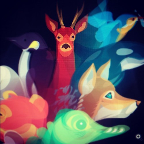 WIP - Sneaky peek at the Fluid Animals calendar cover. | by bentheillustrator