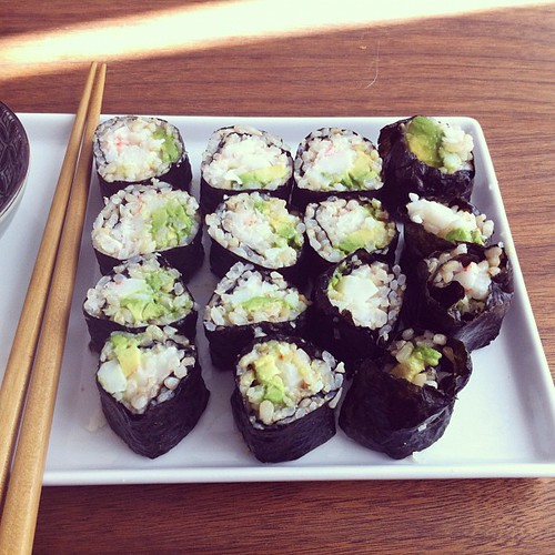Made (messy) sushi for late lunch | by QuiteCurious