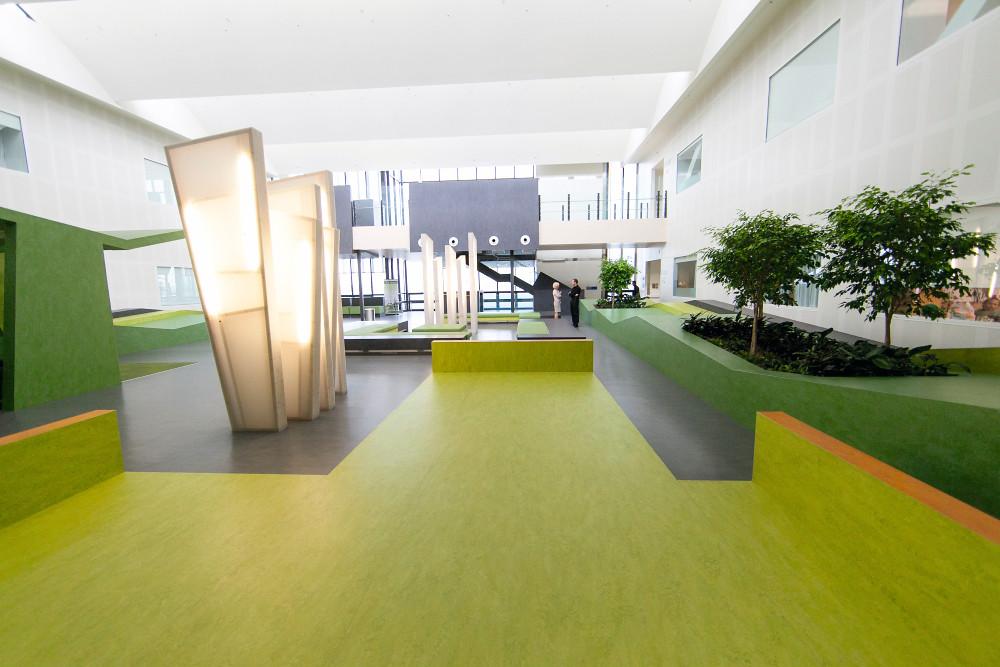 Marmoleum real waikato hospital acute services building for Ak decoration building services