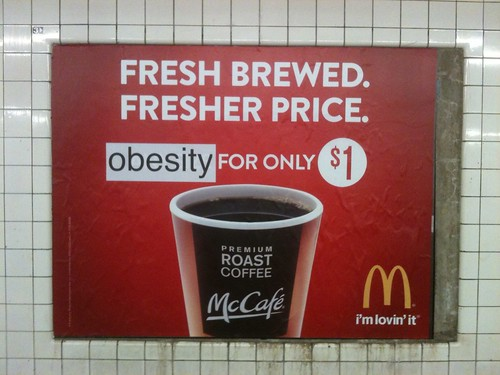 Adbusting McDonald's (Nassau Ave; Queens bound G) | by Jilly Ballistic