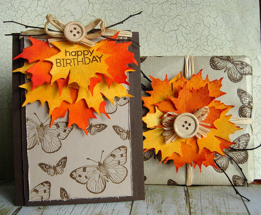 Autumn Birthday I Wanted To Make A Card And Wrap A Gift