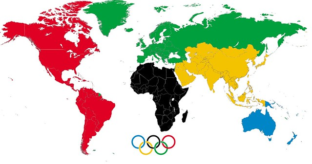 Olympic Ring Color Represents Country
