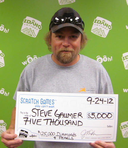 Steve Gaumer  - $5,000 $125,000 Diamonds & Pearls | by Idaho Lottery