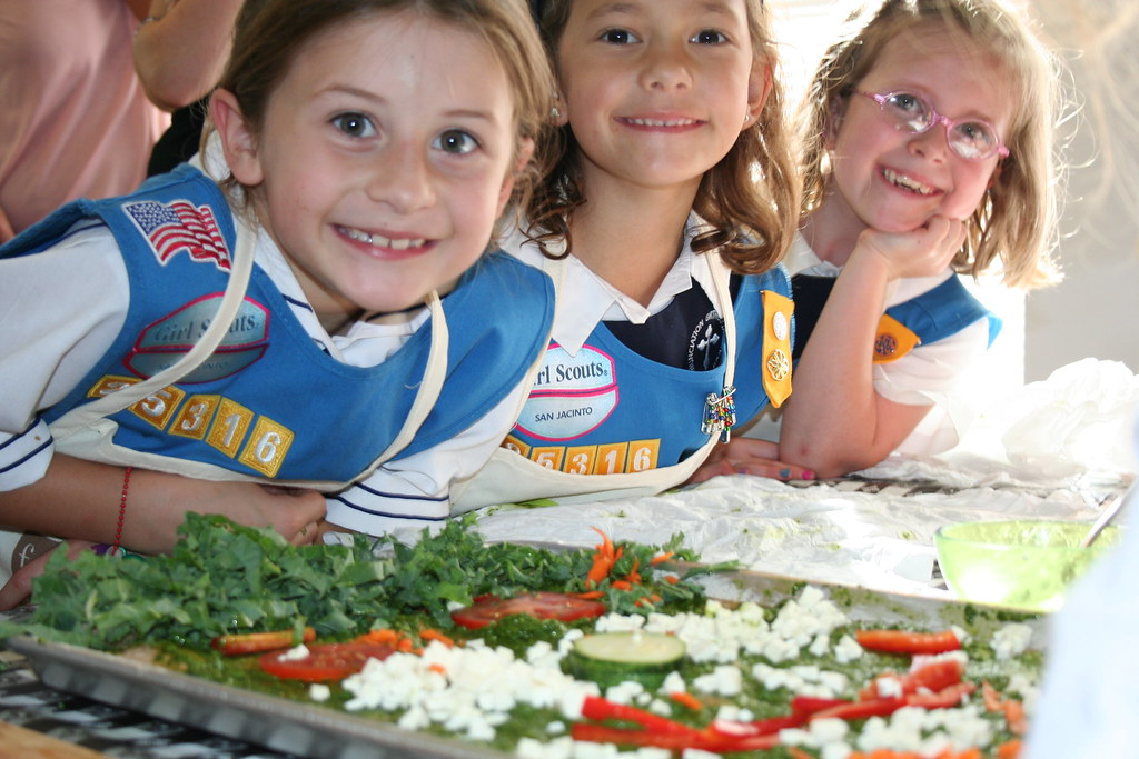girl scouts earn a culinary badge while cooking healthy no