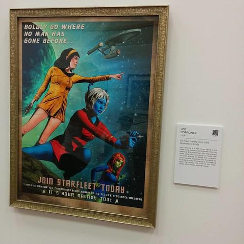 """It's Your Galaxy Too!"" By Joe Corroney #startrek #joecorroney #toronto #cne #theex #vulcan #andorian #orion"