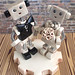 Commission: Robot Wedding Cake Topper traditional with rustic flair