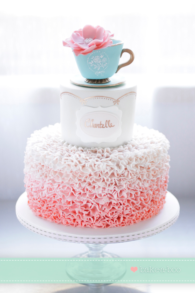 Vintage High Tea ruffle cake I have been waiting to make ...