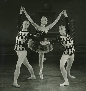Kenneth MacMillan, Beryl Grey and John Field in Ballet Imperial, 1950 © 1950 Royal Opera House/Roger Wood | by Royal Opera House Covent Garden