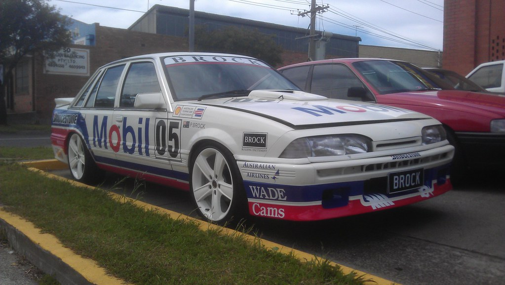 peter brock vl commodore replica whilst on the way back fr