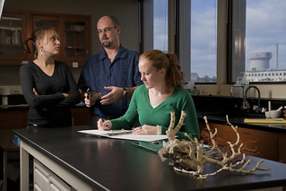 Students with Professor Examining Samples | by Texas A&M WWW